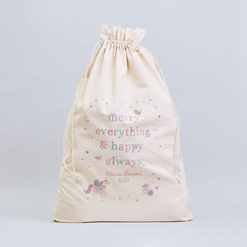 Personalised 'Merry Everything' Christmas Sack
