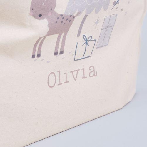Personalised Reindeer Design Christmas Sack