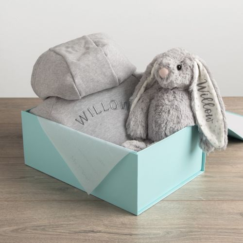 Personalized Onesie and Stuffed Animal Gift Set