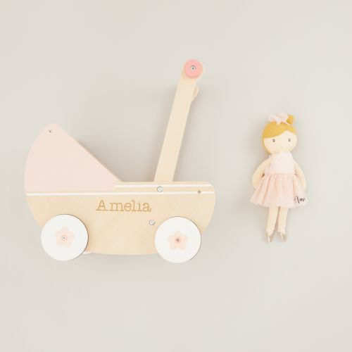 Personalised Pram and Doll Gift Set