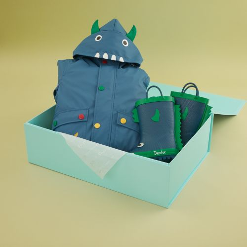 Personalized Little Monster Rain Coat and Wellies Gift Set