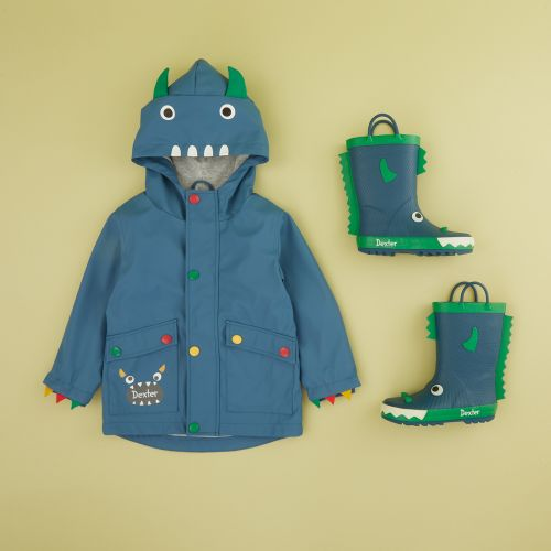 Personalized Little Monster Raincoat and Wellies Gift Set