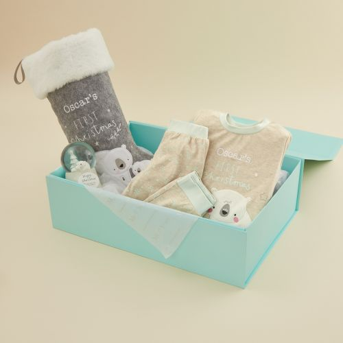Personalized Baby's 1st Christmas Gift Set