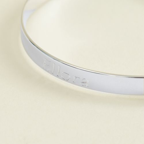 Silver Engraved Baby Keepsake Bangle