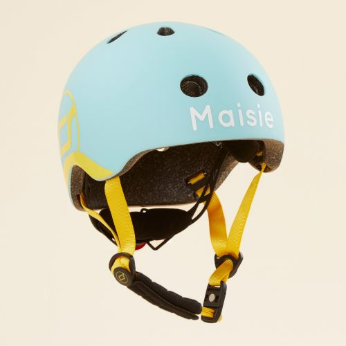 Personalised Scoot and Ride Blue Helmet