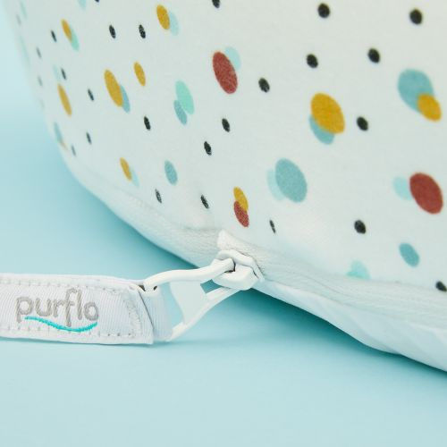 Personalised Purflo 'Scandi Spot' Baby Bed and Swaddle to Sleep Bag Set 9-18 Months