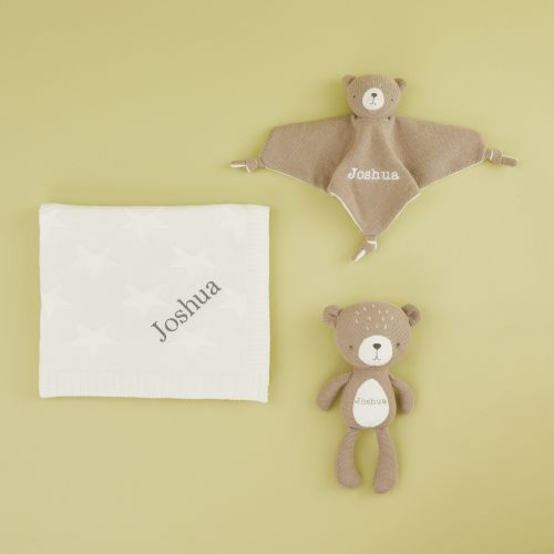 Personalized Baby Bear and Stuffed Animal Gift Set