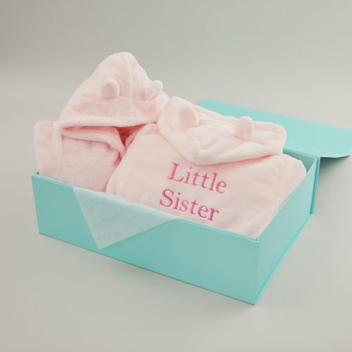Matching Pink Sibling Robe Set