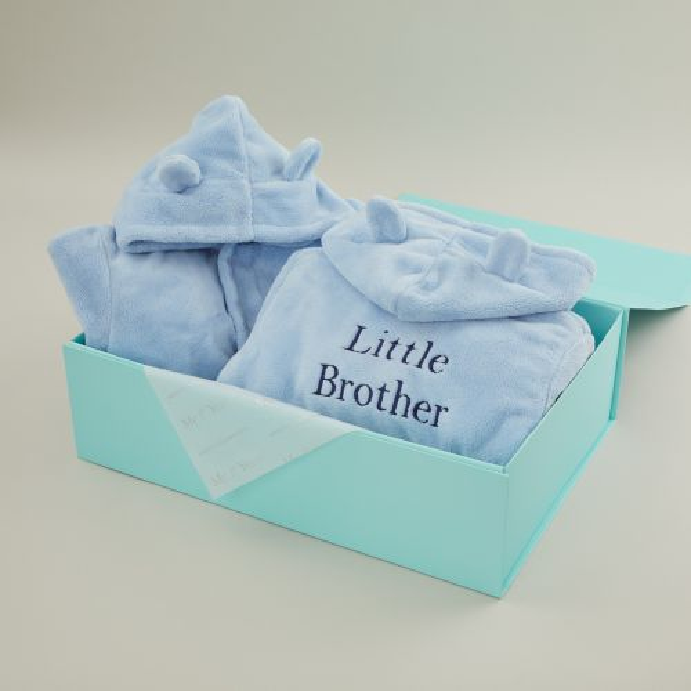 Matching Blue Sibling Robe Set