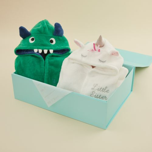Personalized Unicorn & Monster Sibling Gift Set