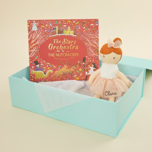 Personalized Nutcracker Musical Story Book and Ballerina Doll Gift Set