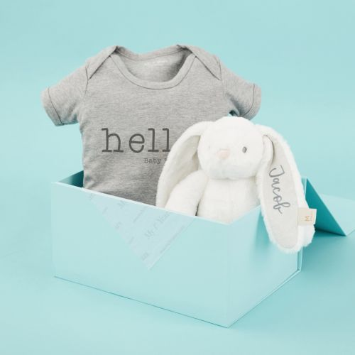 Personalised Hello Baby Gift Set