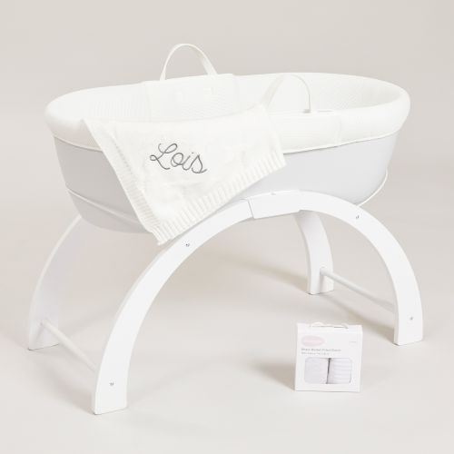 Personalised Shnuggle Dreami Moses Basket and Blanket Gift Set