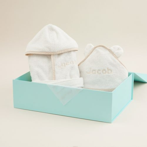 Splash and Snuggles Ivory Gift Set