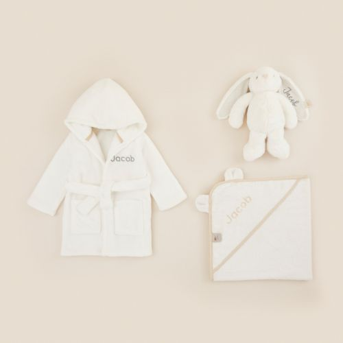 Personalized Ivory Splash, Snuggle & Cuddle Gift Set
