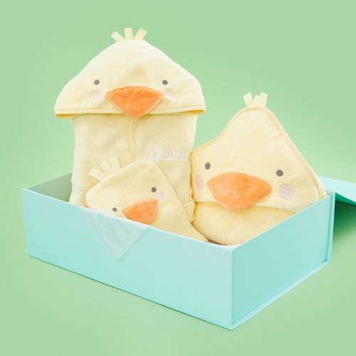 Personalised Little Duckling Bath Time Gift Set