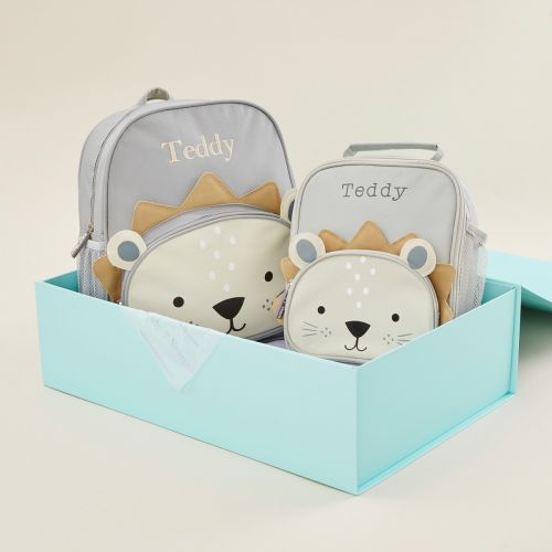 Personalized Lion Backpack & Lunch Bag Gift Set