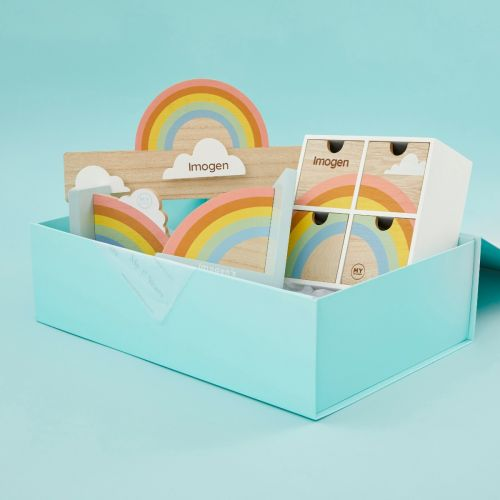 Personalized Rainbow Room Accessories Gift Set