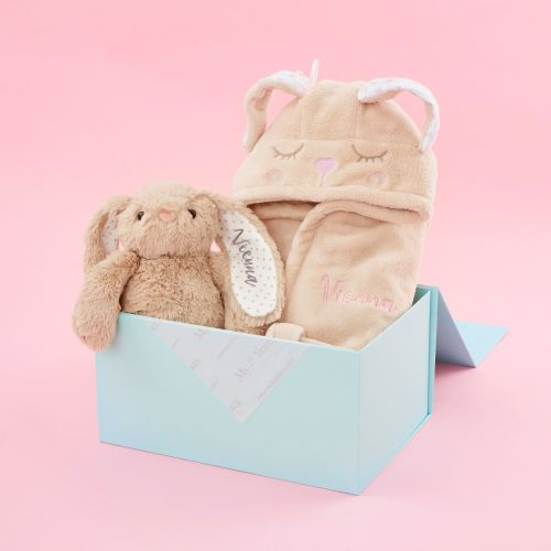 Personalised Little Bunny Soft Toy and Robe Gift Set