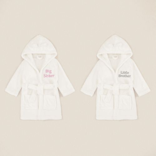 Personalized Ivory Sibling Robe Gift Set
