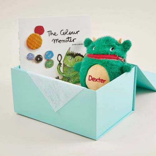 Personalised The Colour Monster Book and Worry Monster Soft Toy Gift Set