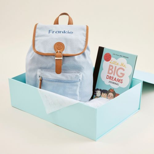 Personalised Little People, Big Dreams Journal & Backpack Gift Set
