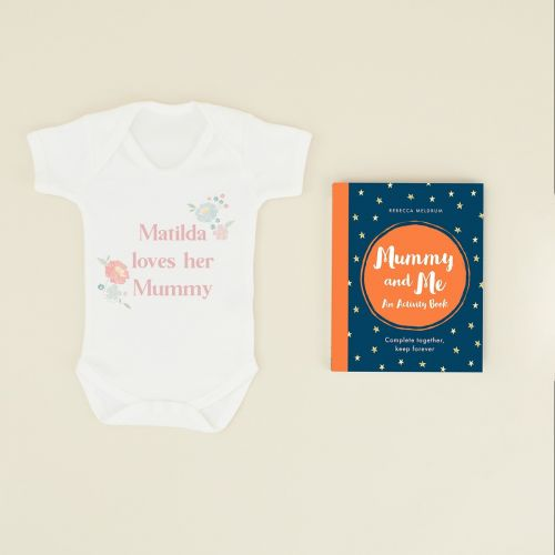 Personalised Mummy and Me Activity Book and Bodysuit Gift Set