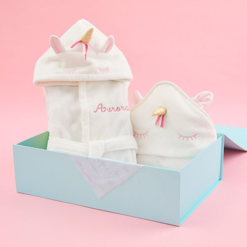Personalized Unicorn Splash & Snuggle Gift Set