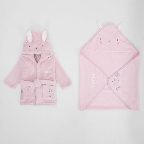 Personalised Little Bunny Splash & Snuggle Gift Set