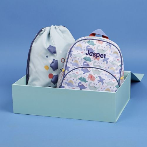 Personalised Jolly Jurassic 1st Day of School Set