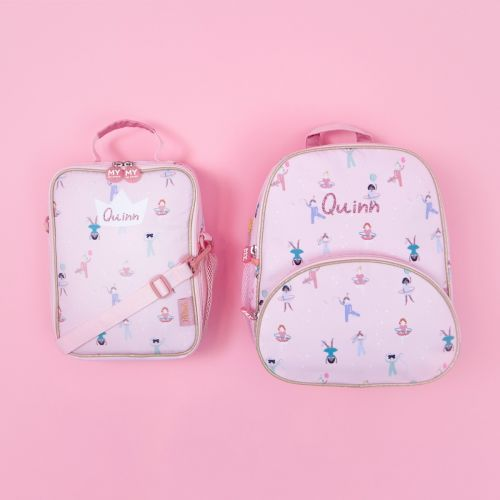 Personalised Little Performer Backpack and Lunchbag Gift Set