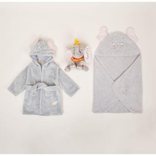 Personalised Disney's Dumbo Splash, Snuggle & Cuddle Set