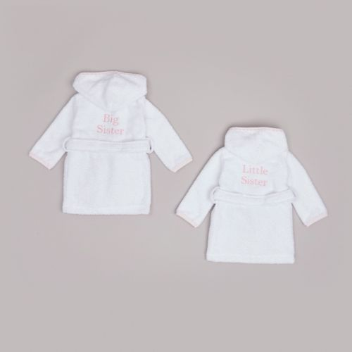 Pink Picot Trim Sibling Dressing Gown Gift Set