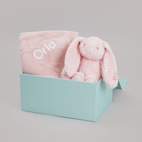Personalised Pink Bedtime Cuddle Gift Set