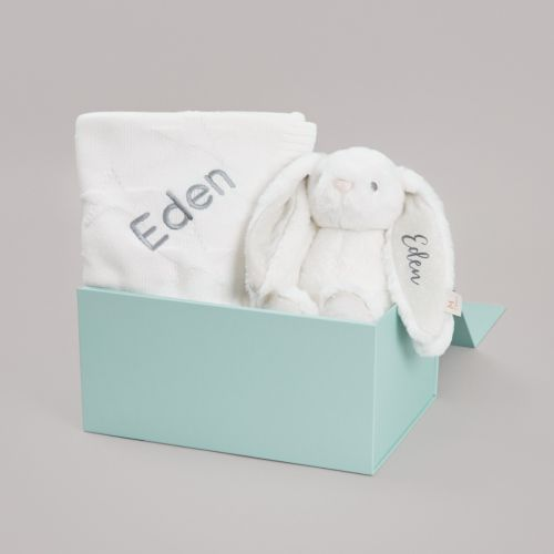 Personalised Ivory Bedtime Cuddle Gift Set