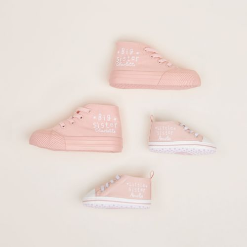Matching Sisters Sibling High Top Shoes Set