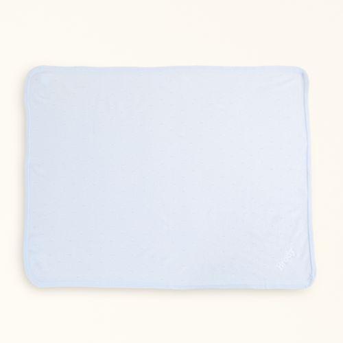 Blue Cashmere Baby Blanket