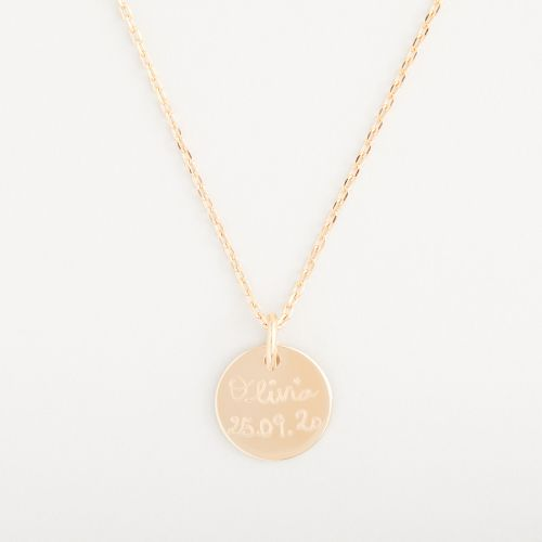 Personalised Merci Maman 18k Gold Plated Message Necklace