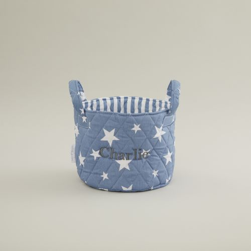 Mini Denim Blue Star Storage Bag