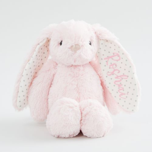 Personalized Pink Bunny Stuffed Animal