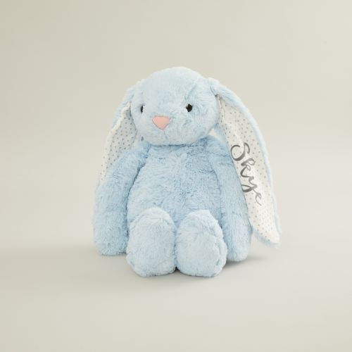 Personalized Large Blue Bunny Stuffed Animal