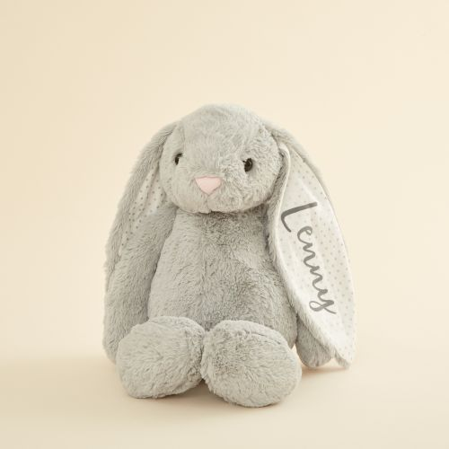 Personalized Large Gray Bunny Stuffed Animal