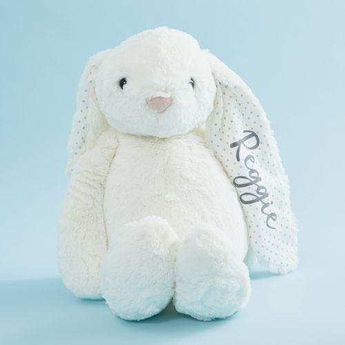 Personalized Large White Bunny Stuffed Animal