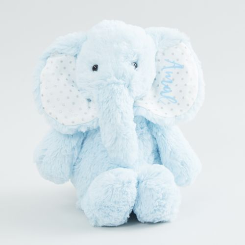 Personalized Blue Elephant Stuffed Animal