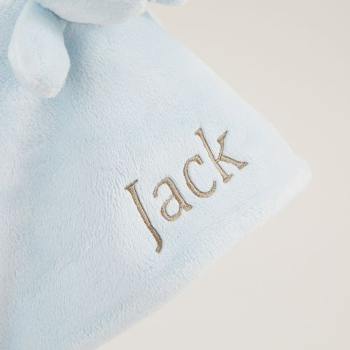 Personalized Blue Bunny Lovey