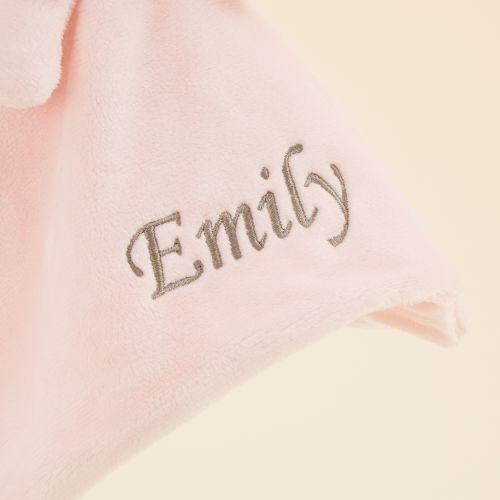 Personalized Pink Bunny Lovey
