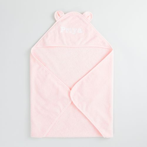 Personalised Pink Hooded Towel