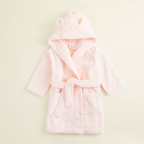 Personalised Pink Hooded Towelling Robe