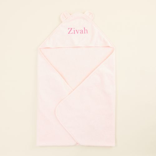 Personalized Large Pink Hooded Bath Towel