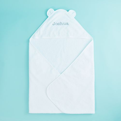 Personalized Large White Hooded Bath Towel